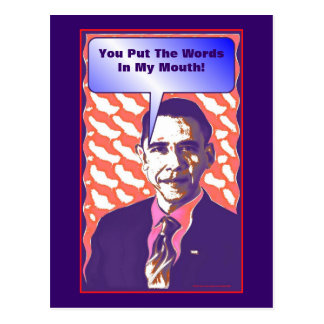 Your Own Talking Obama Pop Art Satire Product Postcard