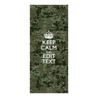 Your Own Text Digital Camo Woodland Keep Calm Card