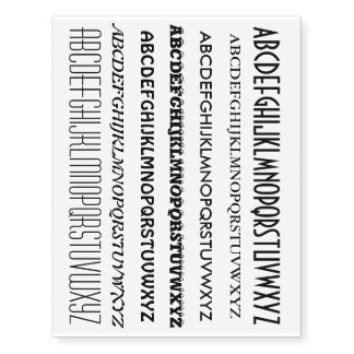 Your own Texts, Sayings, Wisdoms, Signs Temporary Tattoos