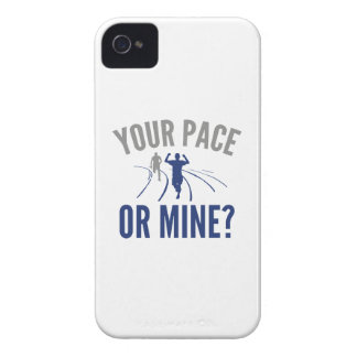 Your Pace Or Mine? iPhone 4 Cover