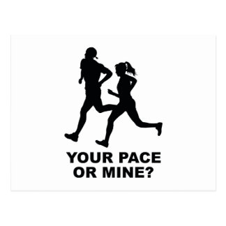 Your Pace Or Mine? Postcard