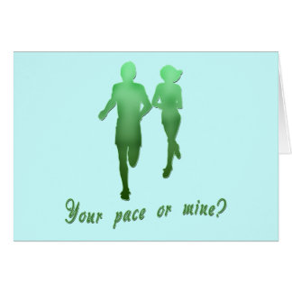 Your Pace or Mine? Running Products Cards
