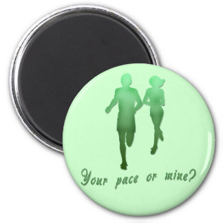 Your Pace or Mine? Running Products Fridge Magnets