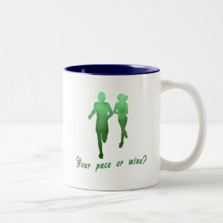 Your Pace or Mine? Running Products Two-Tone Coffee Mug