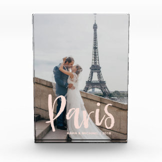Your Paris Vacation Photo and Chic Pink Typography