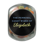 Your Personal Candy Stash - Customizable Name Glass Candy Jar