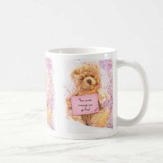 Your Personal Note Vintage Teddy Bear Coffee Mug