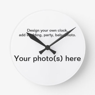 Your personal wall clock, add photos. round clocks