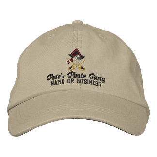 Your Personalized Pirate Embroidery Embroidered Baseball Hat