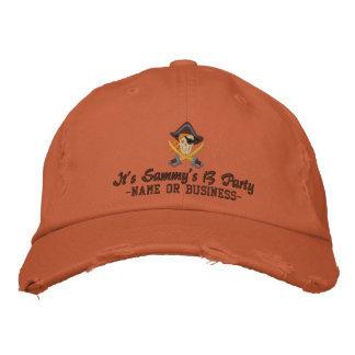 Your Personalized Pirate Embroidery Embroidered Hats