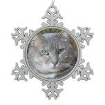 Your Pet Cat Photo Snowflake Ornament
