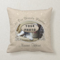 Your Pet Photo and Name Gifts for Loss of a Pet Throw Pillow