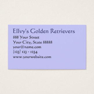 Your Pet Related Business card