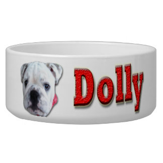 YOUR PETS FACE AND NAME ON HIS/HER FEEDING DISH DOG WATER BOWLS