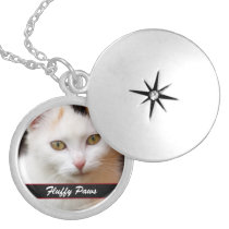 Your Pet's Photo and Name Locket Necklace
