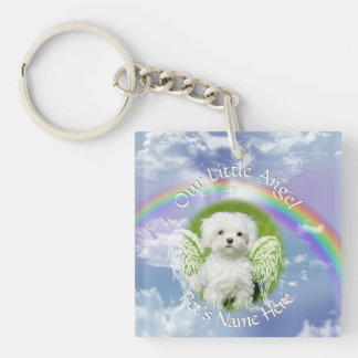 YOUR Pet's Photos Heavenly Memorial Keychain