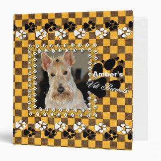 YOUR Pet's Vet Records Yellow Checkerboard Binder