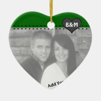 Your Photo and Initials First Christmas Ornament