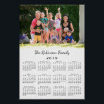 """Your Photo and Name Personalized 2019 Calendar Poster<br><div class=""""desc"""">Keep the people you love nearby with a personalized 2019 calendar poster. Replace the sample photo and name with your own in the sidebar. The custom text is in a modern black script font. Below it is an easy to read black 2019 calendar on a white background. Calendar design copyright...</div>"""