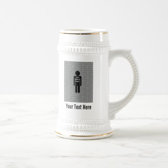 Your Photo and Text Here Custom Beer Stein
