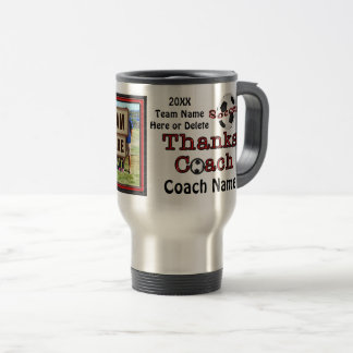 Your PHOTO and TEXT Soccer Coach Gifts Mug