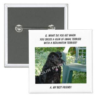 Your Photo! Best Friend Glen of Imaal Terrier Mix Buttons