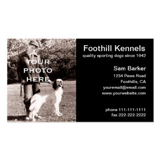 Your Photo Clean Black with White Text Double-Sided Standard Business Cards (Pack Of 100)