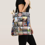"""Your Photo Collage Pattern Tote Bag<br><div class=""""desc"""">Your Photo Collage Pattern All Over Print Tote Bag. Perfect for the family activity bag to carry around all the rainy day activities and treasures. Perfect as a thoughtful gift that is practical too! Who can&#39;t use a cute little keepsake bag with photos of the grand kids, or children or...</div>"""