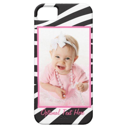 YOUR PHOTO Custom Chic Zebra Frame Phone Case