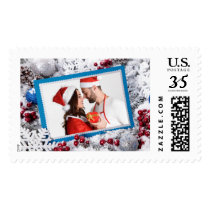 YOUR PHOTO custom Christmas postage stamps