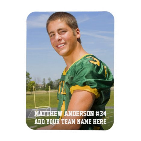 Your Photo Custom Football or Your Sport Magnet