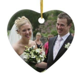 Your Photo  Customized Wedding Keepsake ornament