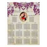Your Photo Damask Seating Chart Alphabetical Posters