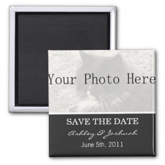 Your Photo- Dark Gray Save The Date Magnets