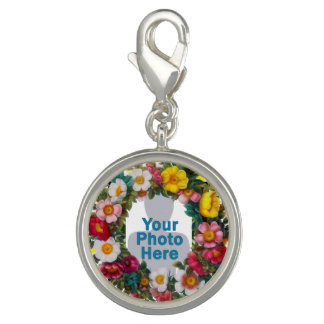 Your Photo Frame of Flowers Charm