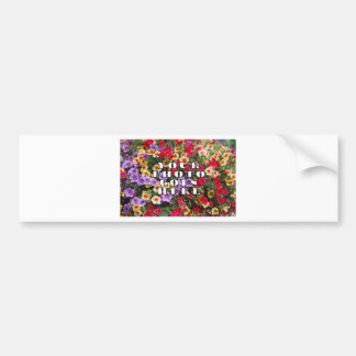 Your Photo Goes Here Customized Zazzle Template Bumper Sticker