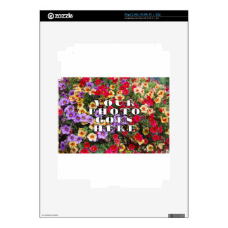 Your Photo Goes Here Customized Zazzle Template iPad 2 Skin