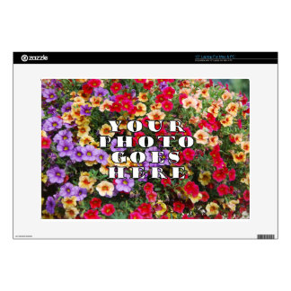 Your Photo Goes Here Customized Zazzle Template Laptop Decals