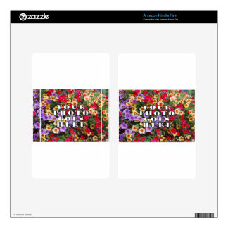 Your Photo Goes Here Customized Zazzle Template Kindle Fire Skin