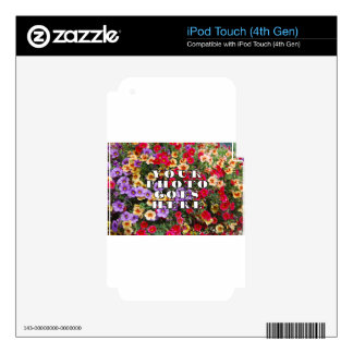 Your Photo Goes Here Customized Zazzle Template iPod Touch 4G Skin