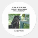 Your Photo Here! Best Friend German Pinscher Mix Classic Round Sticker