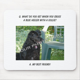 Your Photo Here! My Best Friend Blue Heeler Mix Mouse Pad