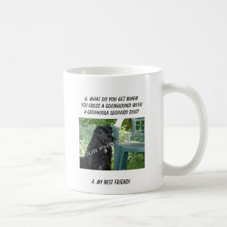 Your Photo Here! My Best Friend Coonhound Mix Classic White Coffee Mug