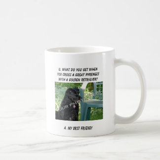 Your Photo Here! My Best Friend Great Pyrenees Mix Classic White Coffee Mug
