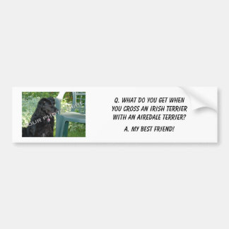 Your Photo Here! My Best Friend Irish Terrier Mix Bumper Sticker