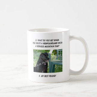 Your Photo Here! My Best Friend Newfoundland Mix Coffee Mugs