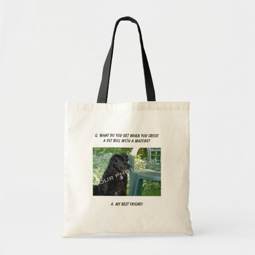 Your Photo Here! My Best Friend Pit Bull Mix Canvas Bag