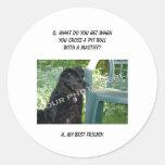 Your Photo Here! My Best Friend Pit Bull Mix Round Sticker