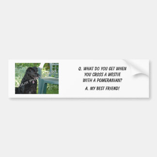 Your Photo Here! My Best Friend Westie Mix Bumper Sticker