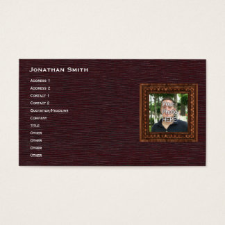 Your Photo Here Wood(Print) Frame Business Card